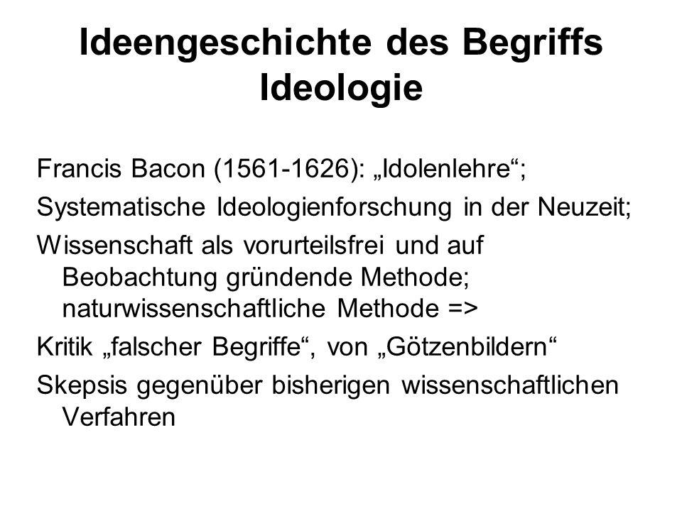Ideengeschichte des Begriffs Ideologie