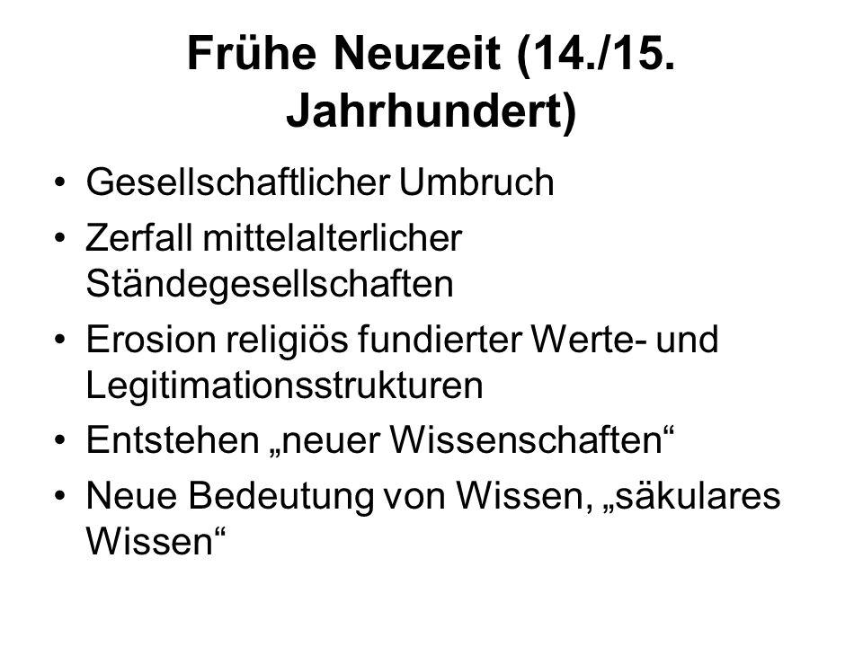 Frühe Neuzeit (14./15. Jahrhundert)