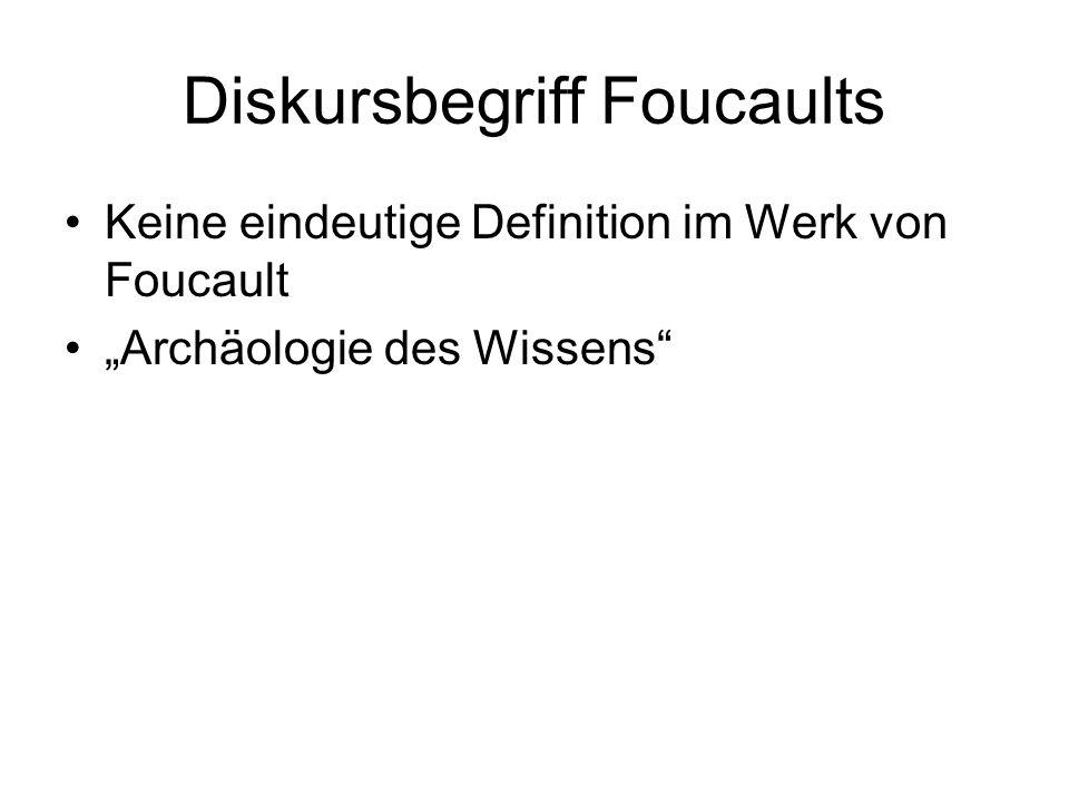 Diskursbegriff Foucaults