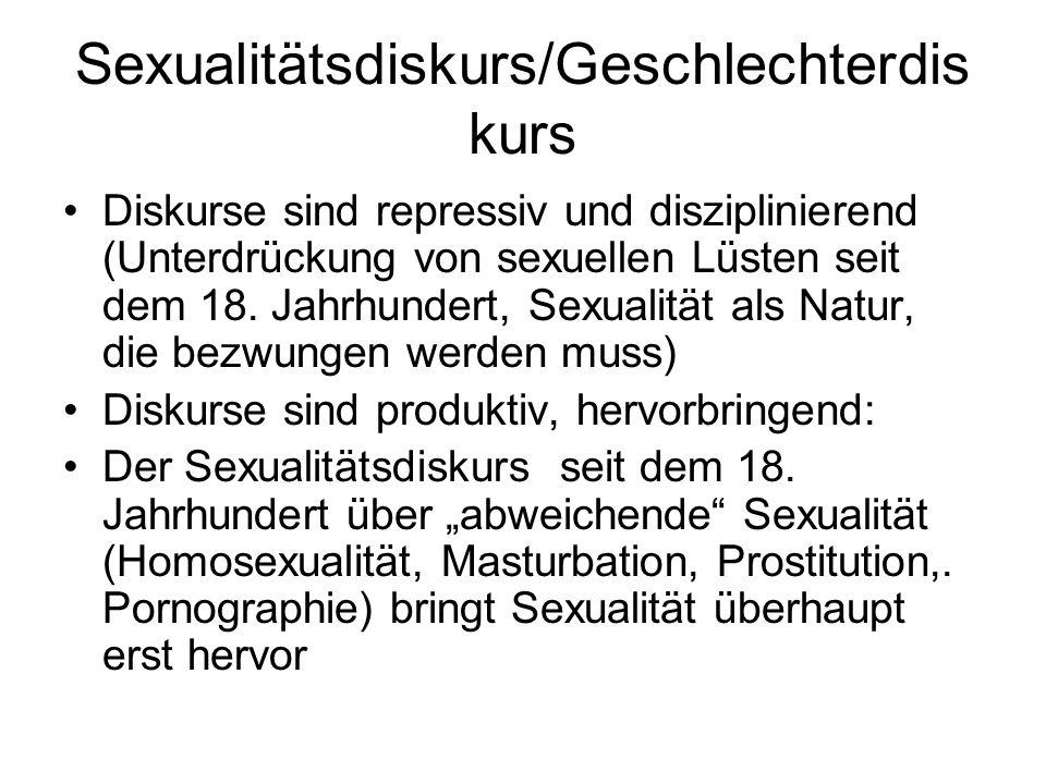 Sexualitätsdiskurs/Geschlechterdiskurs