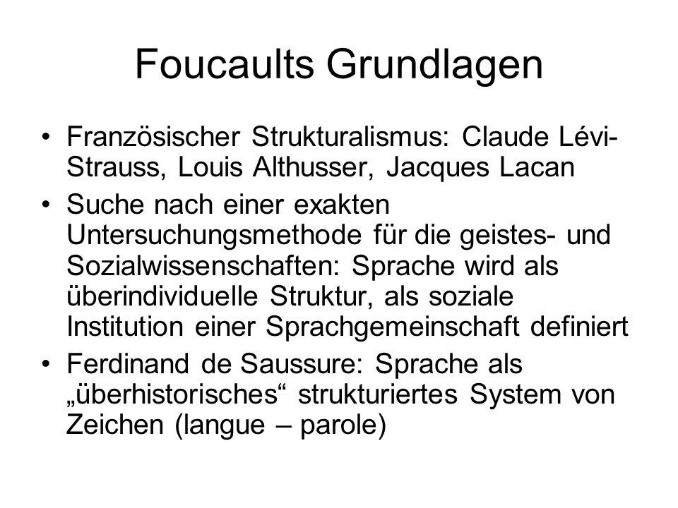 Foucaults Grundlagen Französischer Strukturalismus: Claude Lévi-Strauss, Louis Althusser, Jacques Lacan.