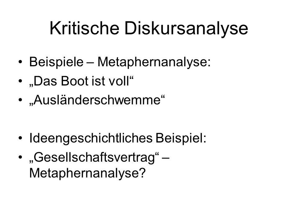 Kritische Diskursanalyse