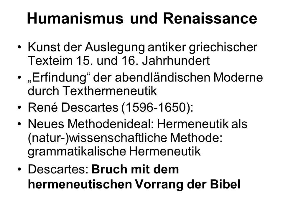 Humanismus und Renaissance