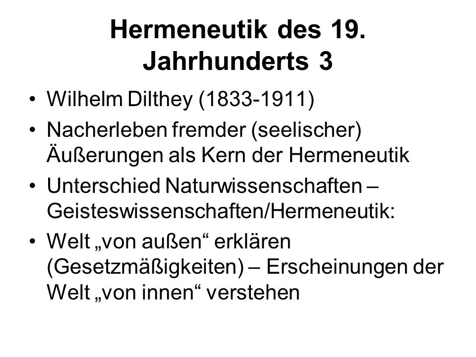 Hermeneutik des 19. Jahrhunderts 3