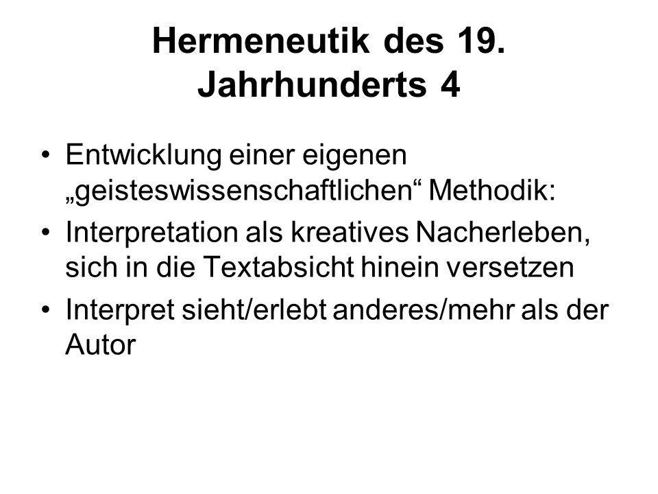 Hermeneutik des 19. Jahrhunderts 4