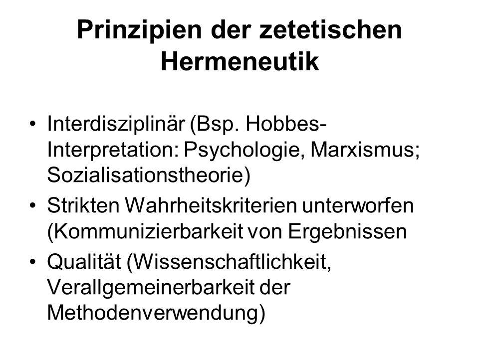 Prinzipien der zetetischen Hermeneutik