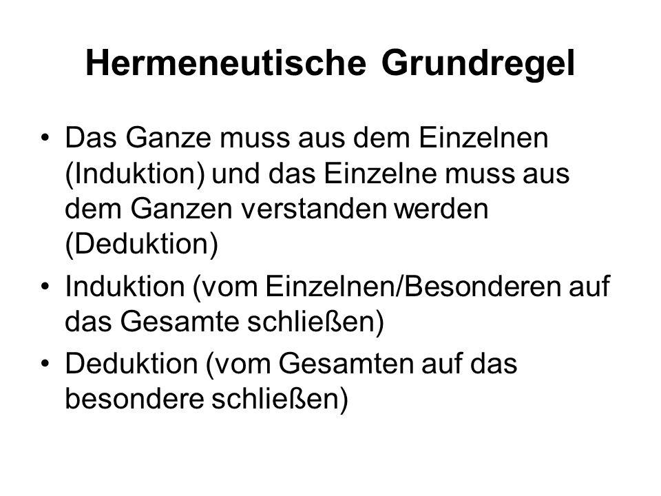 Hermeneutische Grundregel