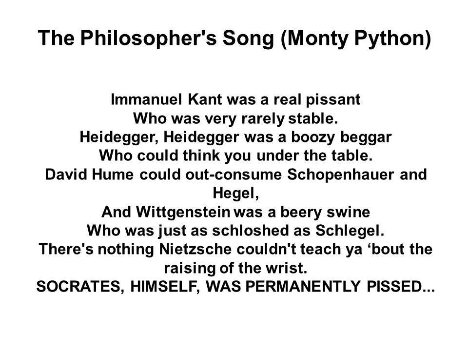 The Philosopher s Song (Monty Python)
