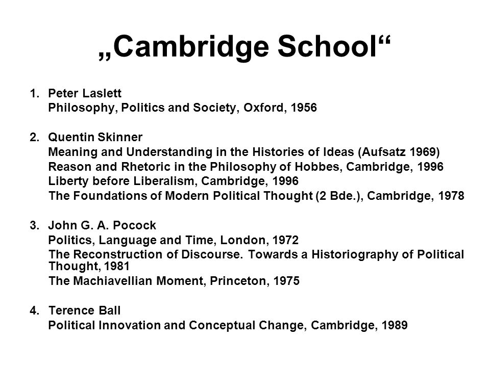 """Cambridge School Peter Laslett"
