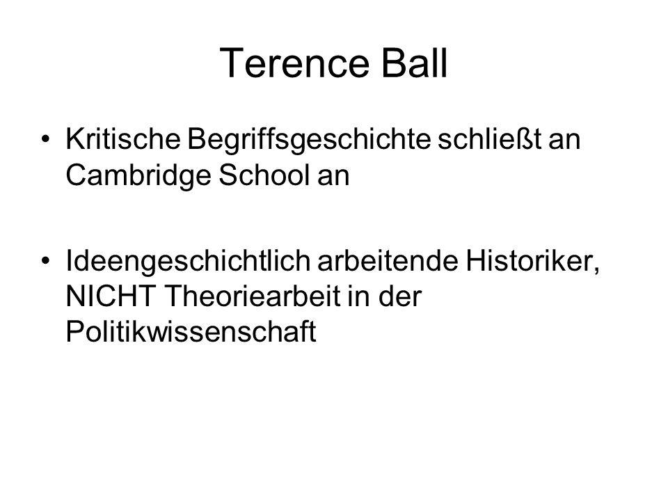 Terence Ball Kritische Begriffsgeschichte schließt an Cambridge School an.
