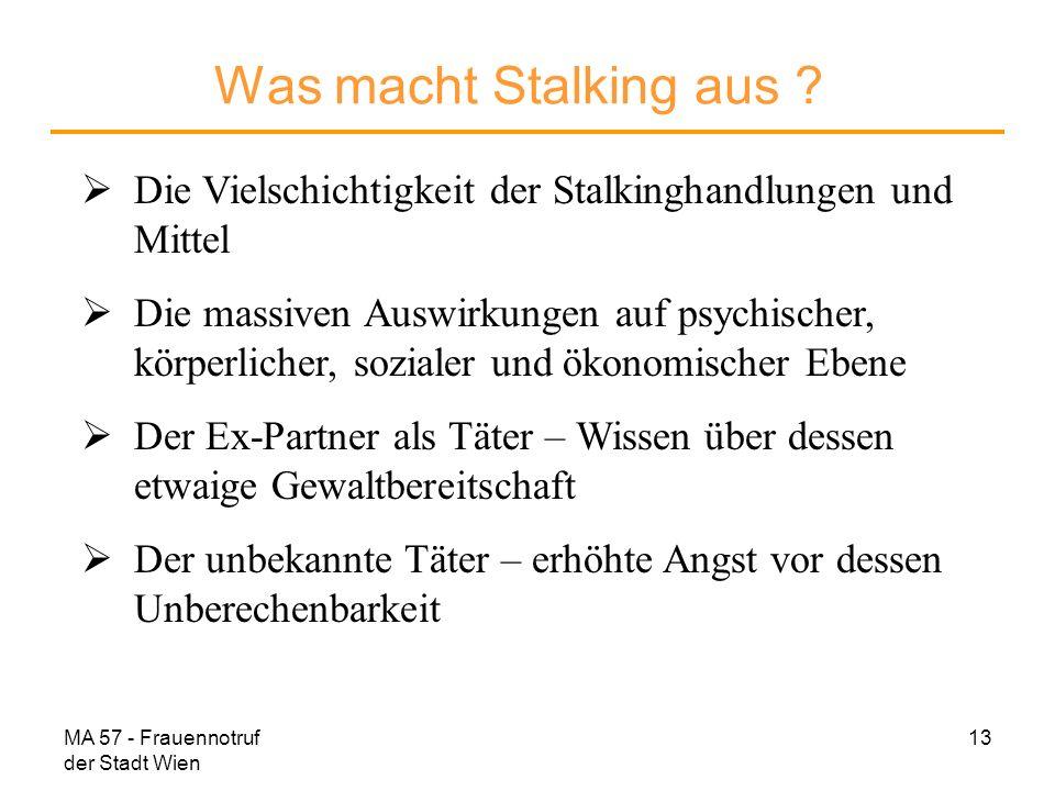 Was macht Stalking aus Die Vielschichtigkeit der Stalkinghandlungen und Mittel.