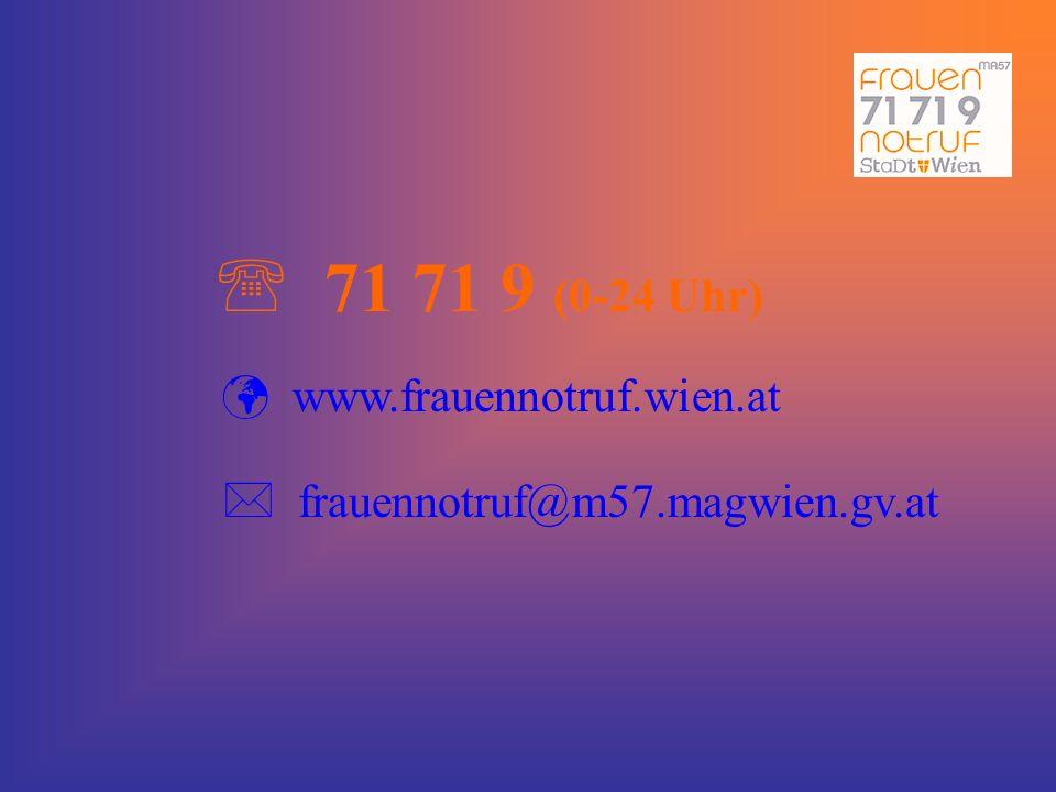 71 71 9 (0-24 Uhr) www.frauennotruf.wien.at
