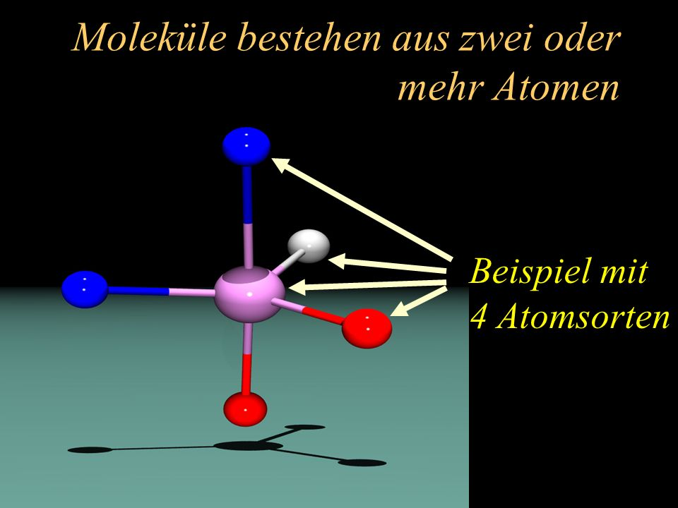 Moleküle bestehen aus zwei oder mehr Atomen
