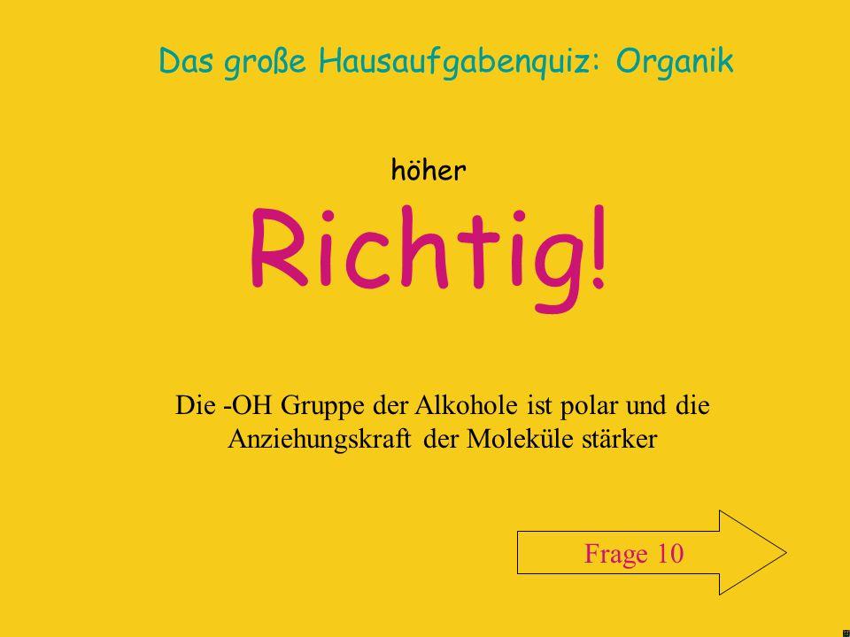 Das große Hausaufgabenquiz: Organik