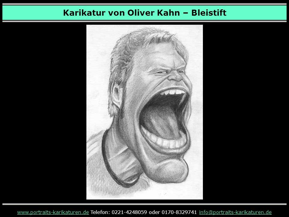 Karikatur von Oliver Kahn – Bleistift