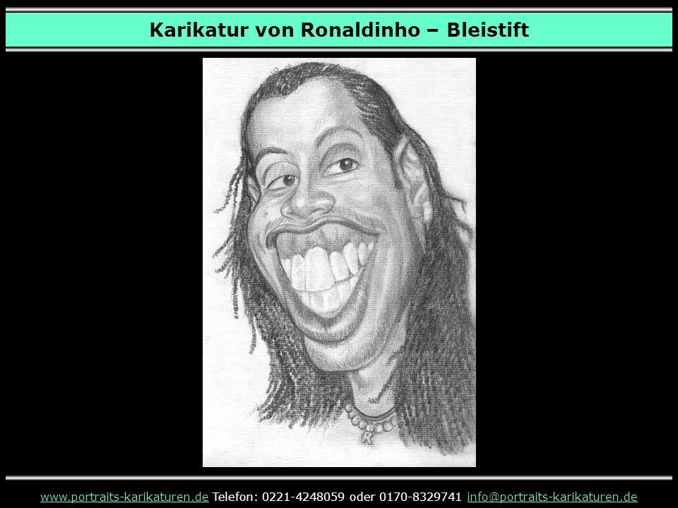 Karikatur von Ronaldinho – Bleistift