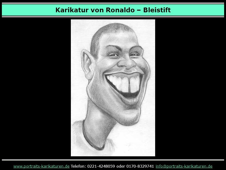 Karikatur von Ronaldo – Bleistift