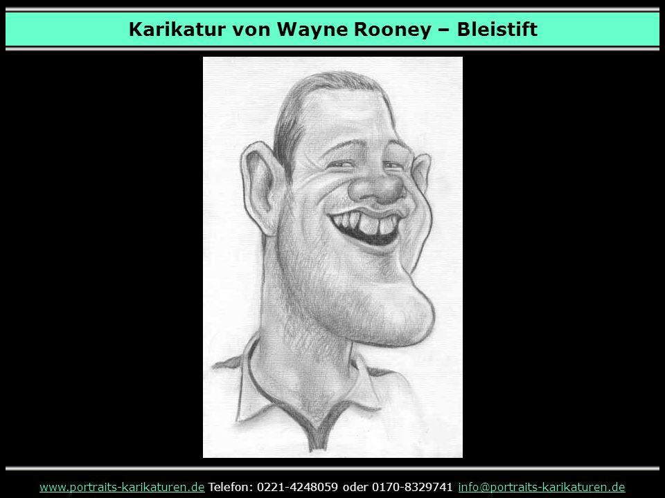 Karikatur von Wayne Rooney – Bleistift