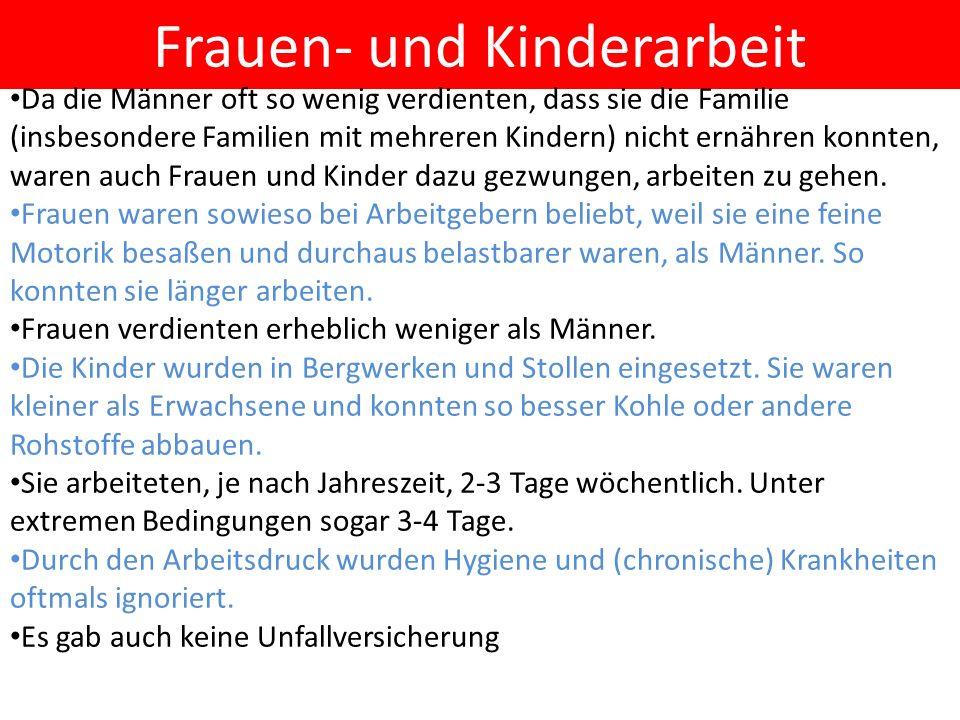 Frauen- und Kinderarbeit
