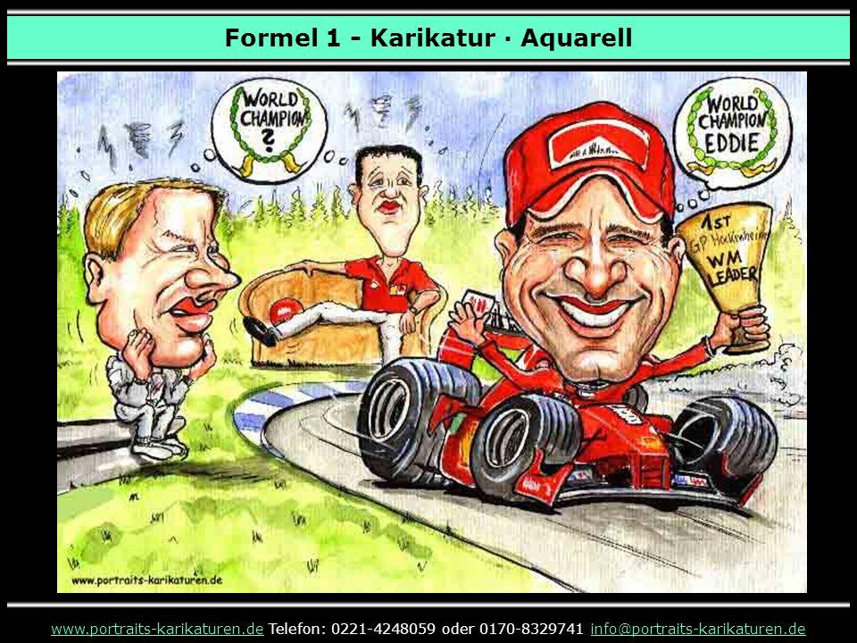 Formel 1 - Karikatur · Aquarell