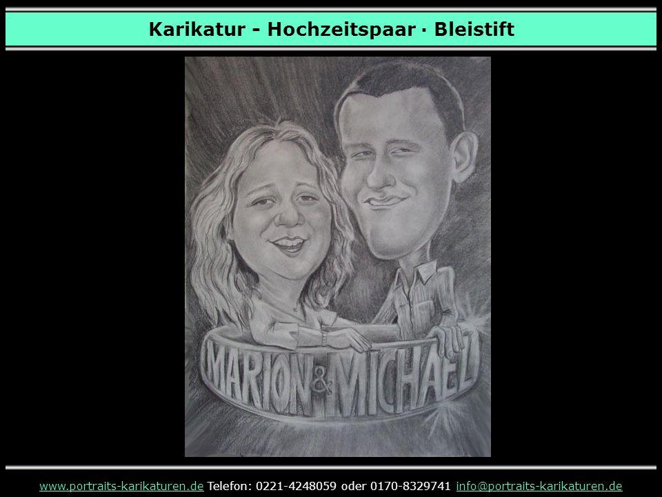 Karikatur - Hochzeitspaar · Bleistift