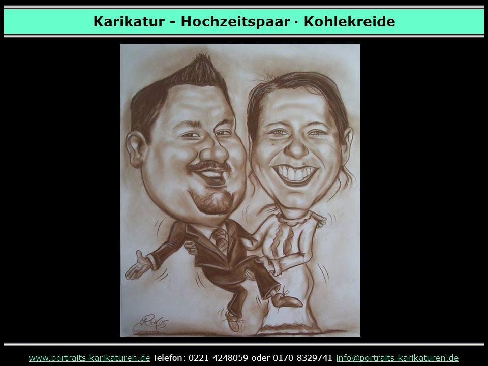 Karikatur - Hochzeitspaar · Kohlekreide