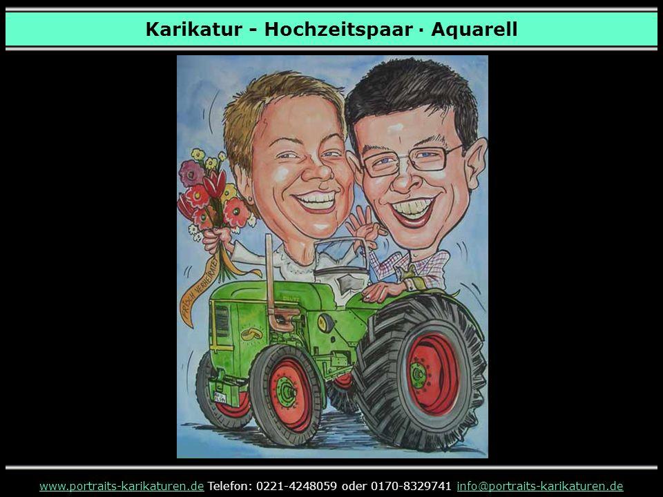 Karikatur - Hochzeitspaar · Aquarell