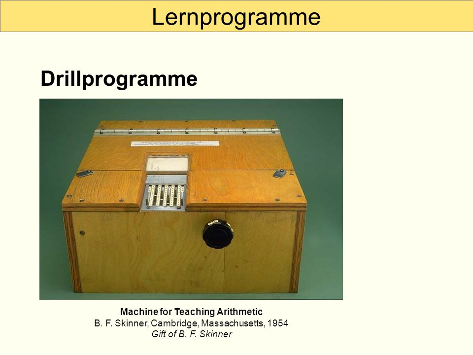 Lernprogramme Drillprogramme