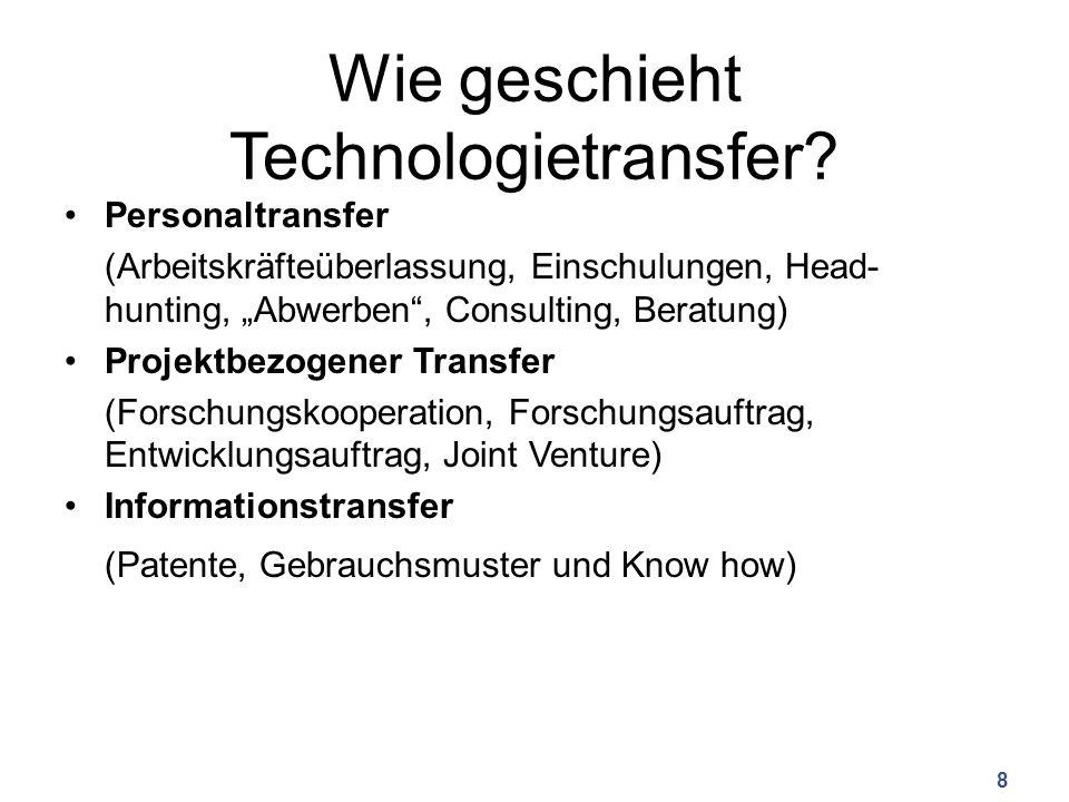 Wie geschieht Technologietransfer