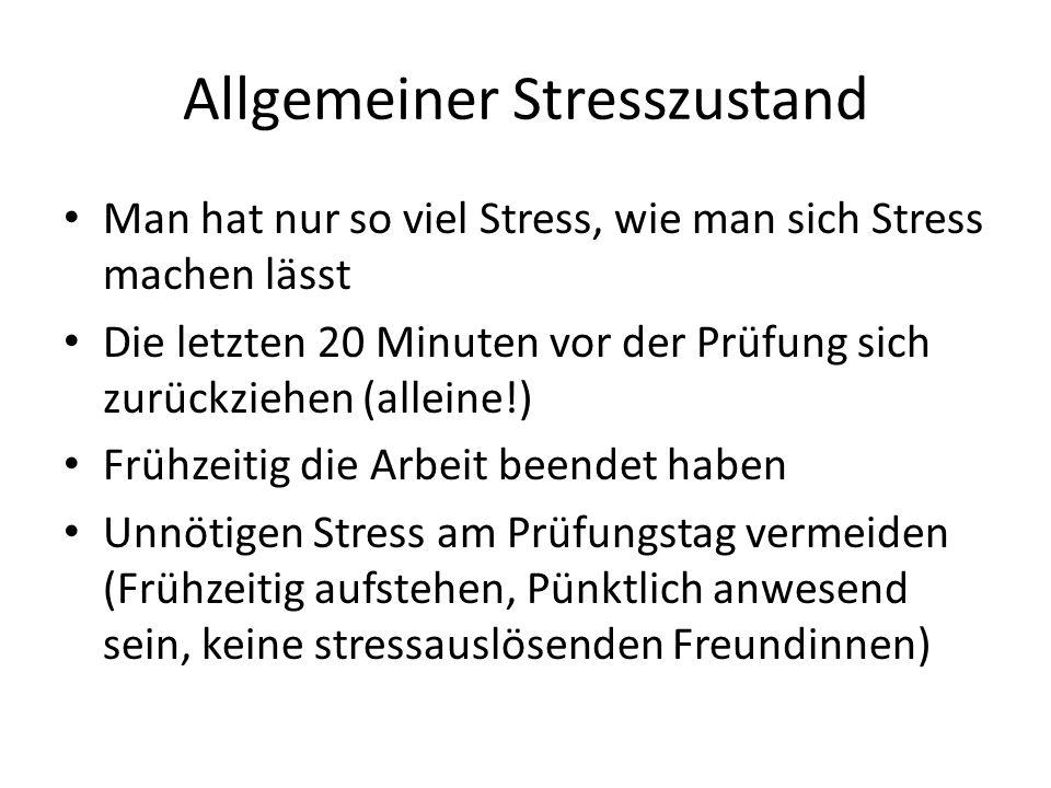 Allgemeiner Stresszustand