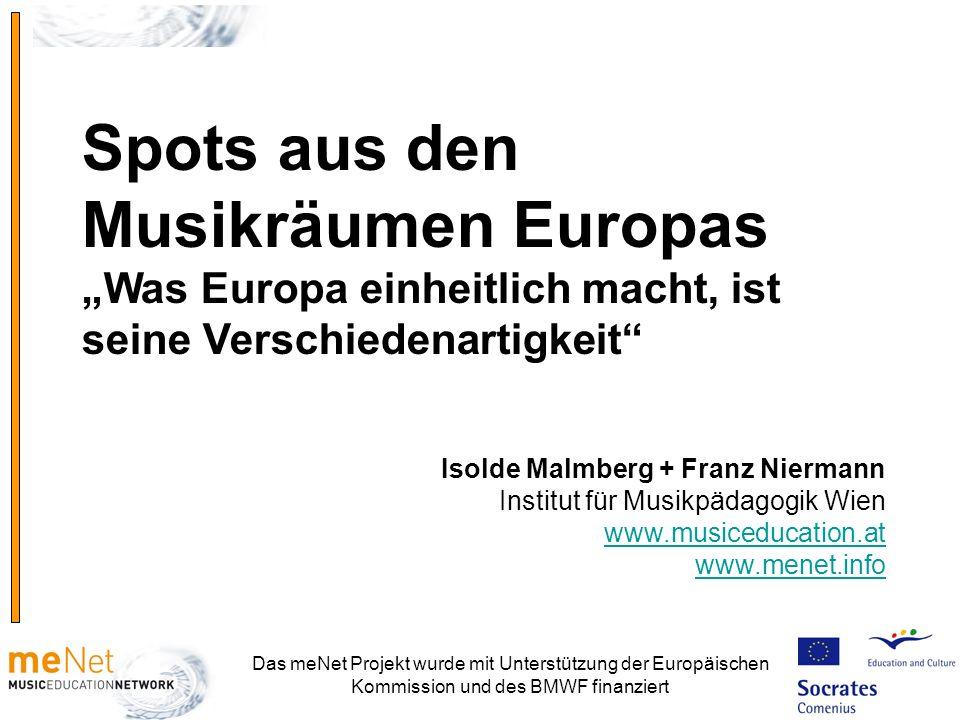 """Spots aus den Musikräumen Europas """"Was Europa einheitlich macht, ist seine Verschiedenartigkeit"""