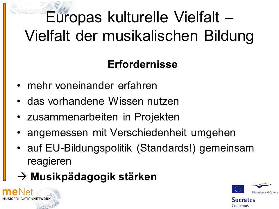 Europas kulturelle Vielfalt – Vielfalt der musikalischen Bildung