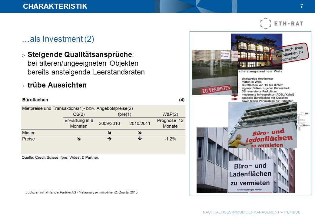 …als Investment (2) CHARAKTERISTIK