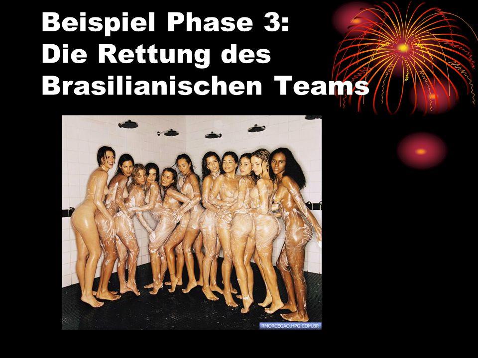 Beispiel Phase 3: Die Rettung des Brasilianischen Teams