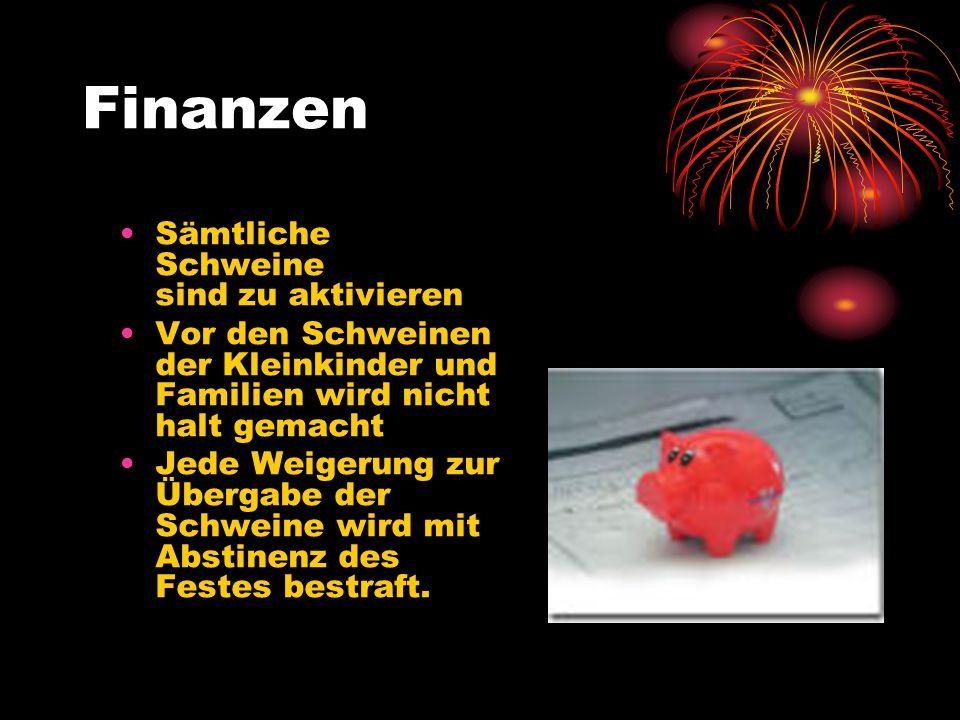 Finanzen Sämtliche Schweine sind zu aktivieren
