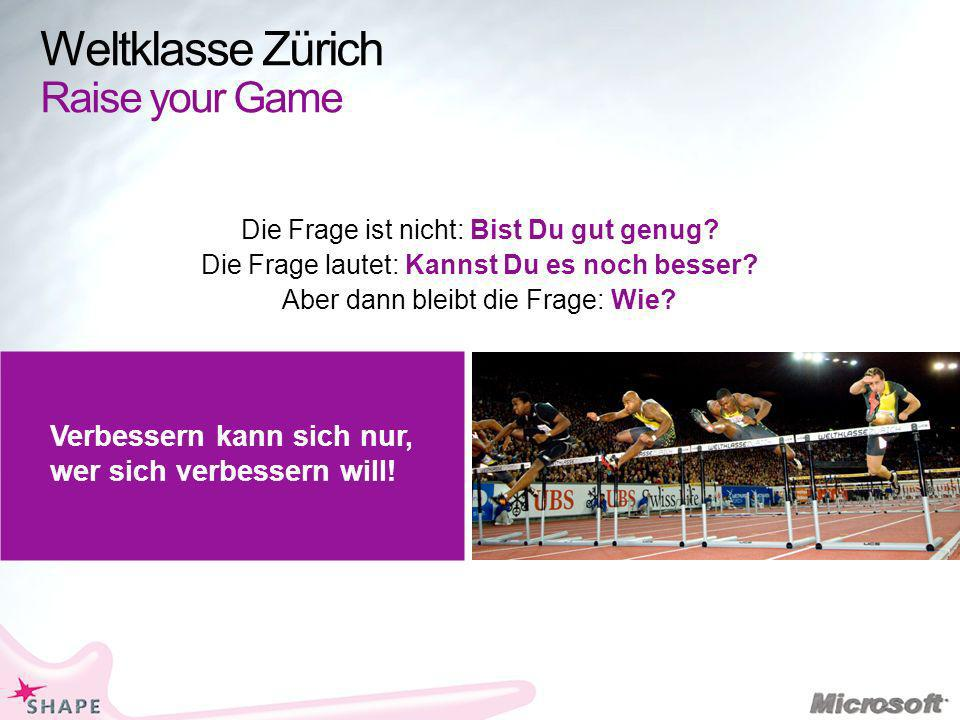 Weltklasse Zürich Raise your Game