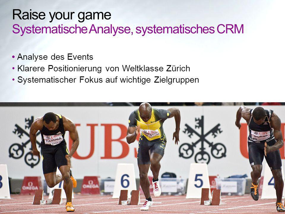 Raise your game Systematische Analyse, systematisches CRM