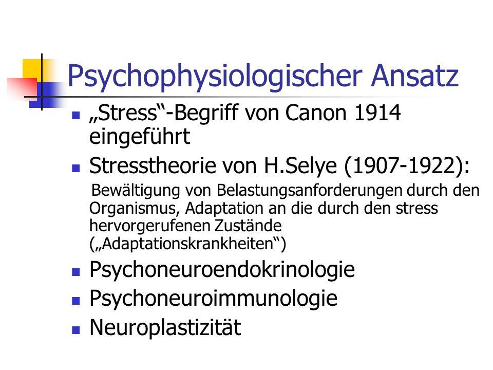 Psychophysiologischer Ansatz