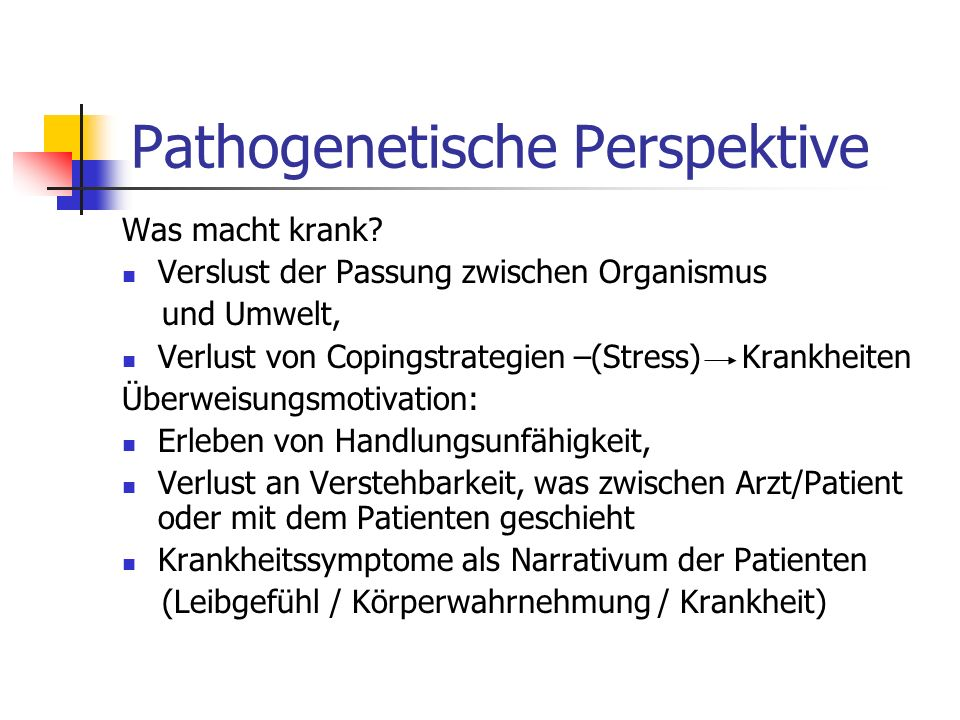 Pathogenetische Perspektive