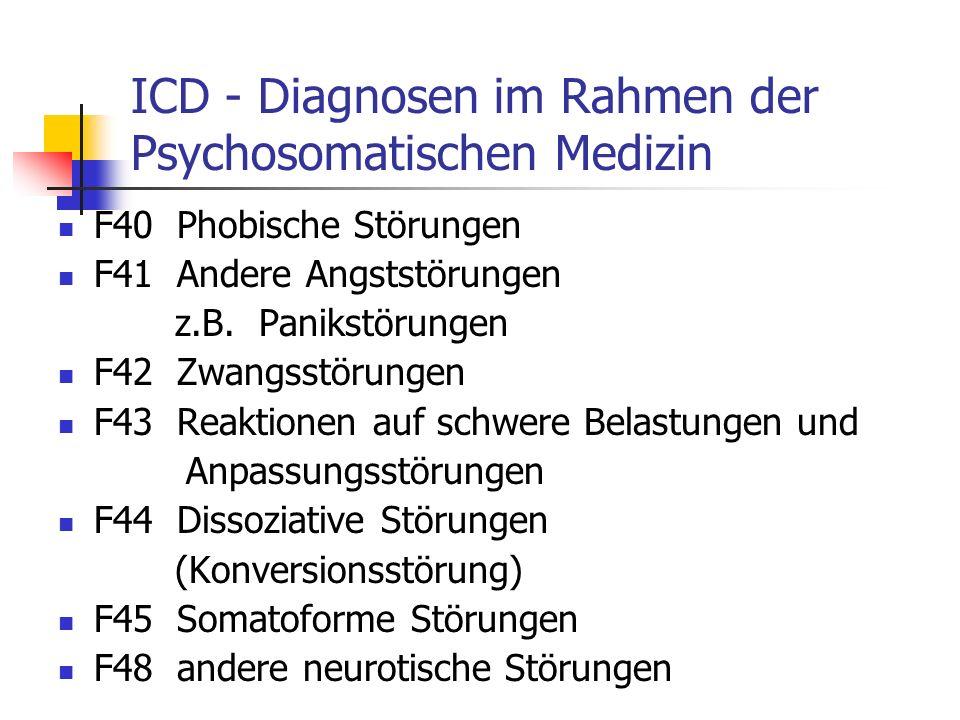 ICD - Diagnosen im Rahmen der Psychosomatischen Medizin