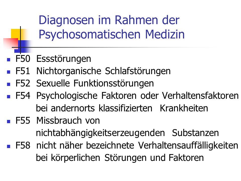 Diagnosen im Rahmen der Psychosomatischen Medizin