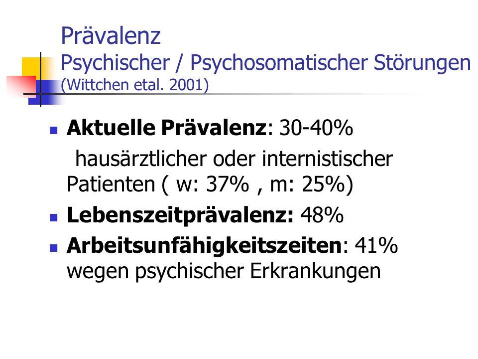 Prävalenz Psychischer / Psychosomatischer Störungen (Wittchen etal