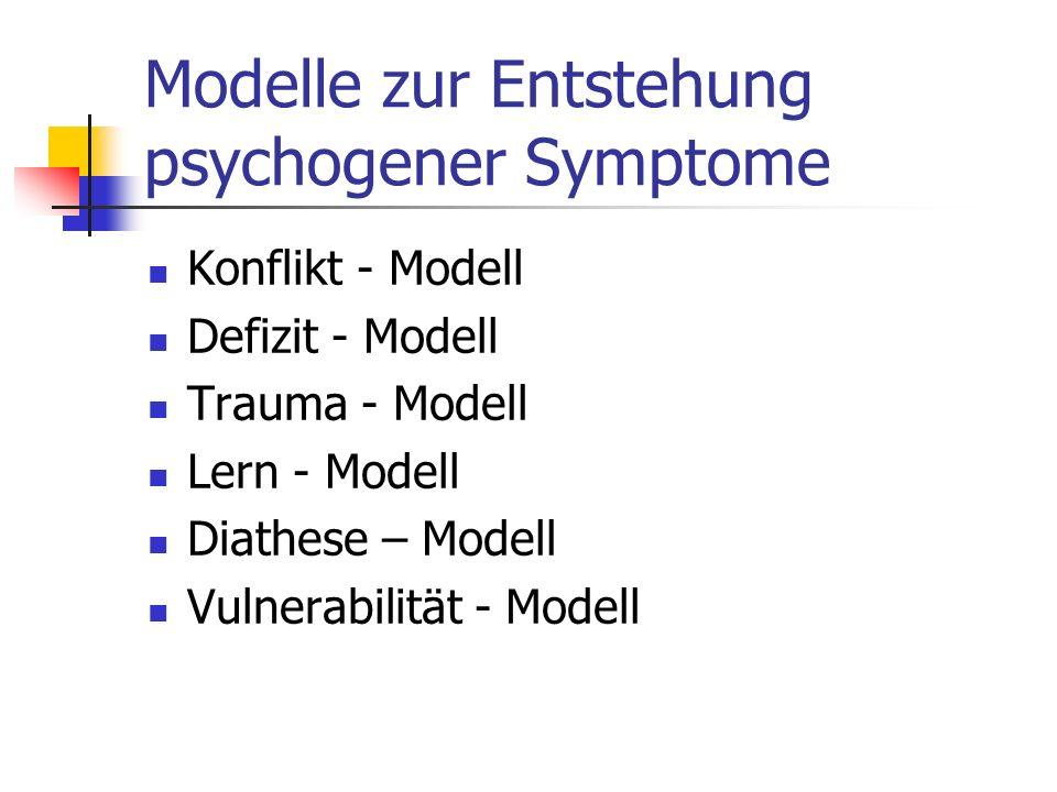 Modelle zur Entstehung psychogener Symptome