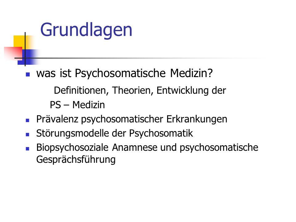 Grundlagen was ist Psychosomatische Medizin