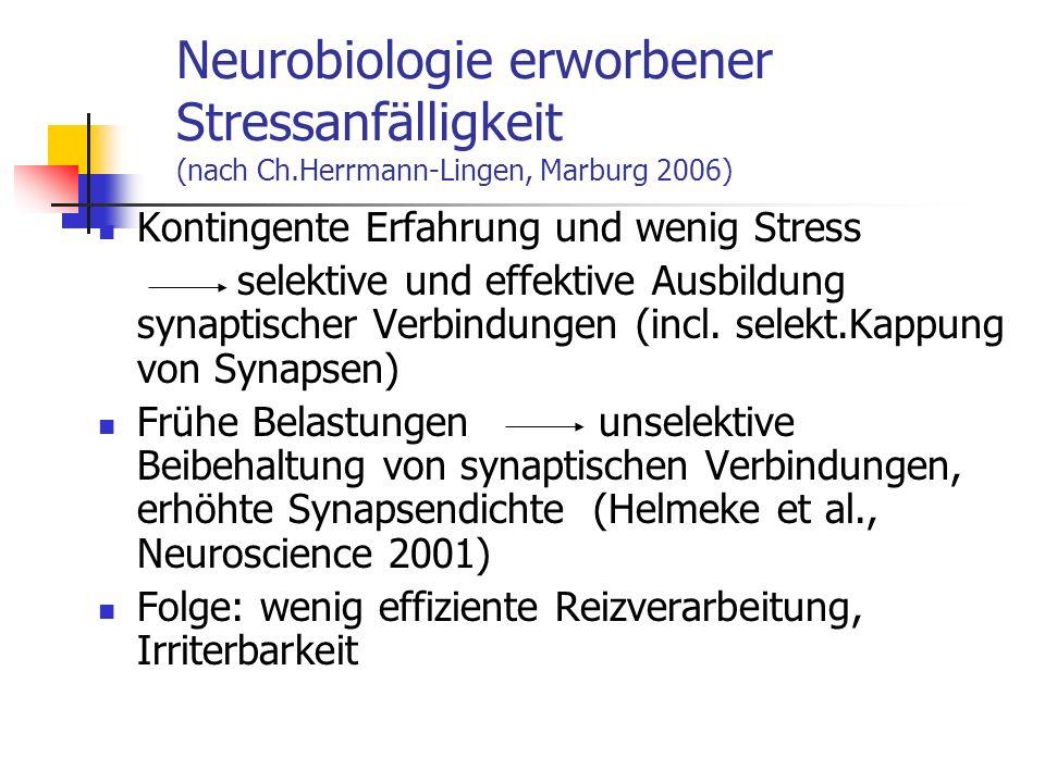 Neurobiologie erworbener Stressanfälligkeit (nach Ch