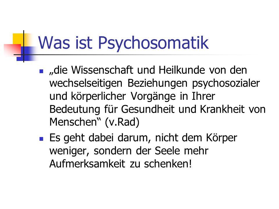 Was ist Psychosomatik