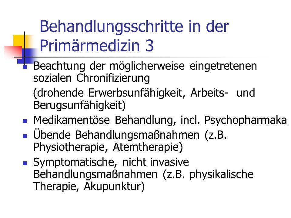Behandlungsschritte in der Primärmedizin 3