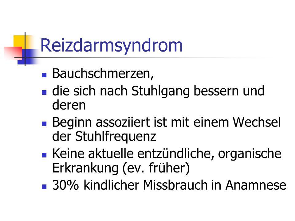 Reizdarmsyndrom Bauchschmerzen,