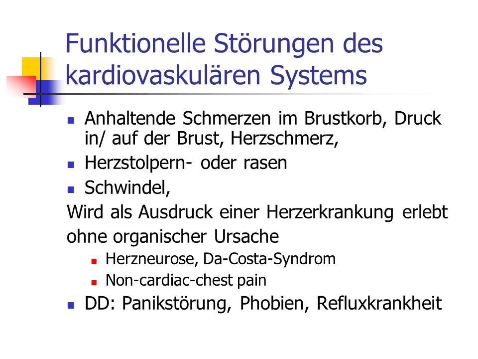 Funktionelle Störungen des kardiovaskulären Systems