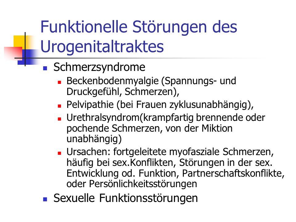 Funktionelle Störungen des Urogenitaltraktes